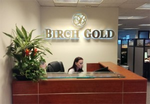 birch gold group reception area