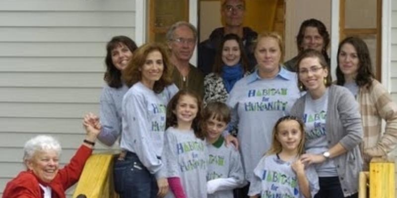 Elizabeth Rust Habitat for Humanity team